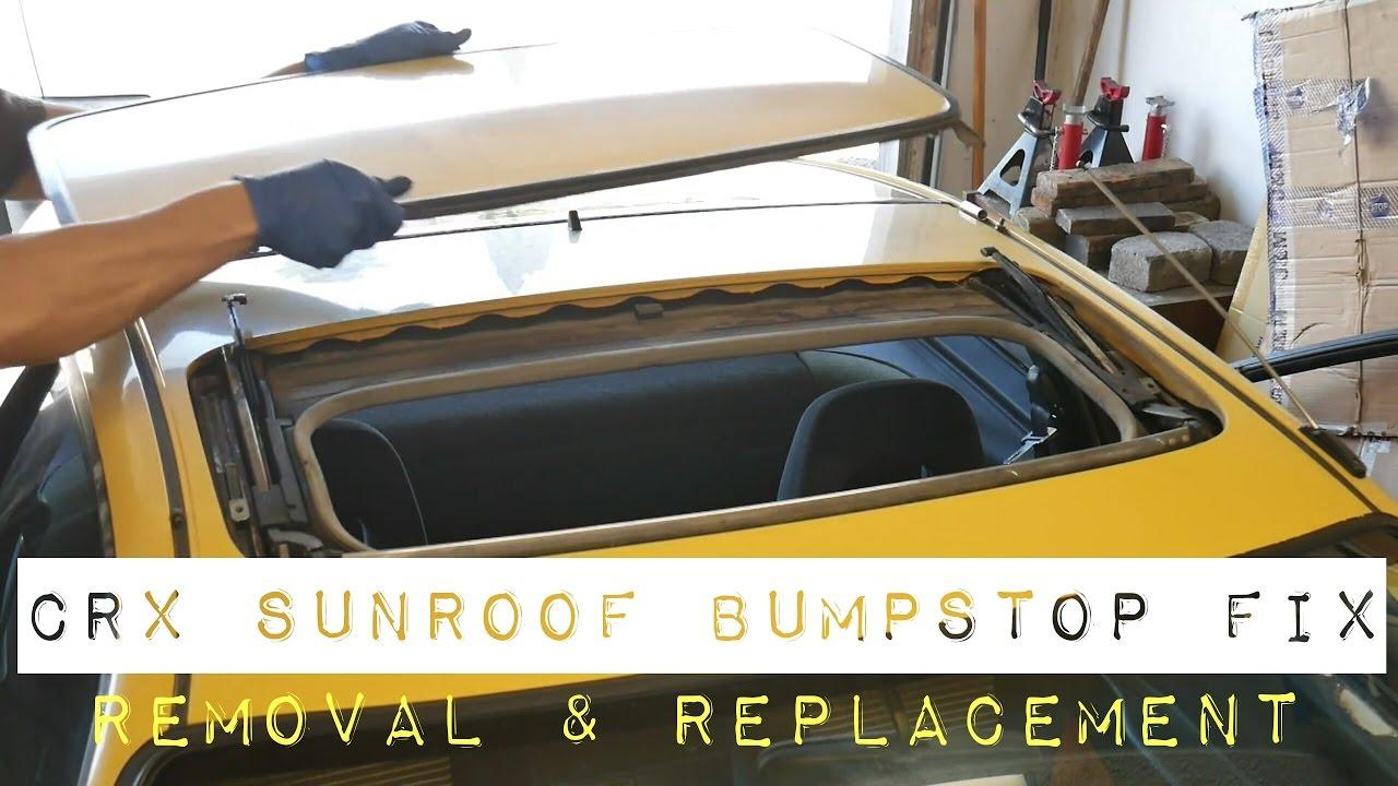 how to remove sunroof bumpstop fix 1988 honda crx si [ 1280 x 720 Pixel ]