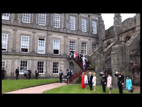 The Queen hosts a Garden Party at the Palace of Holyroodhouse