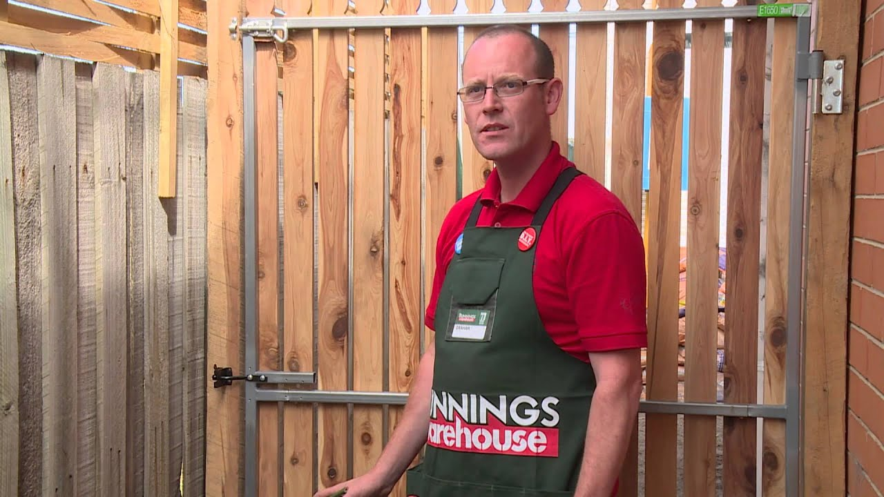 Tv Bracket Bunnings How To Install A Gate Latch Diy At Bunnings