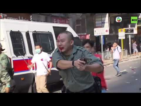 Police shoots at Hong Kong protesters