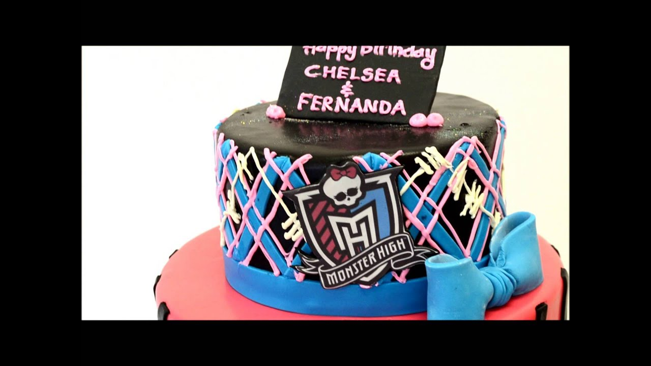 Monster High Theme cake Cake Ideas for upcoming birthday YouTube