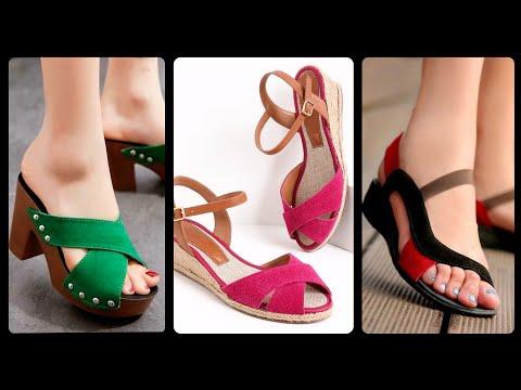 fashionably-elegant-women-casual-office-wear-summer-wedges-&-platform-sandals-design