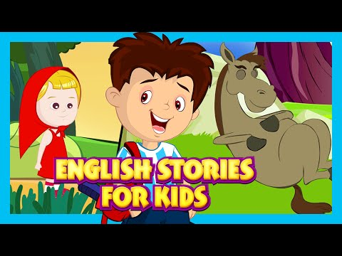 English Stories For Kids - The Lazy Horse, Little Red Riding Hood and Jesus Birth Story