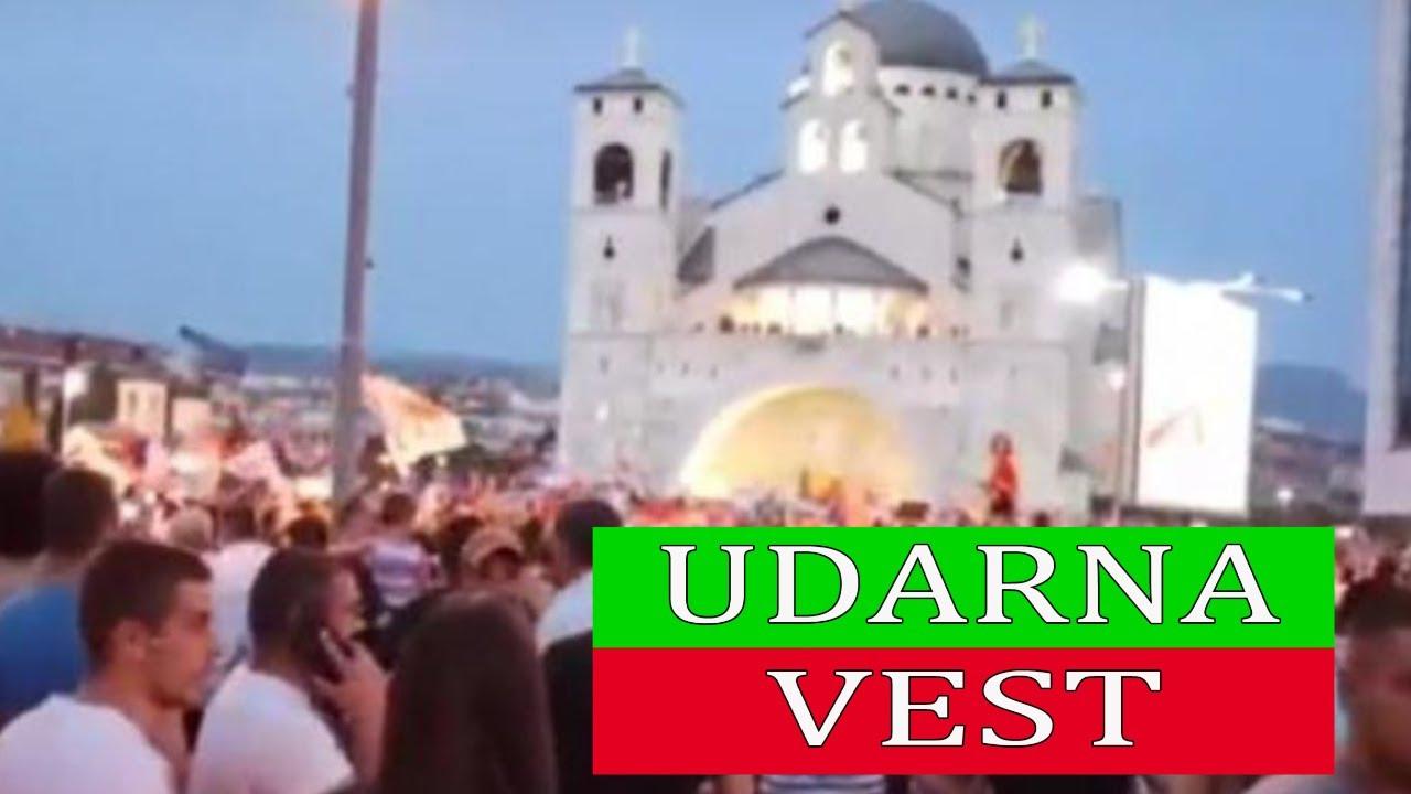 Download TRESE SE CRNA GORA, PODGORICA NA NOGAMA, Više hiljada građana okupilo se ispred Hrama