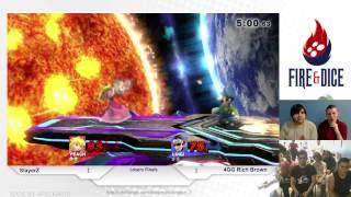 Smash or Die Young #2 - SlayerZ (Peach) vs 4GG Rich Brown (Luigi, Olimar) - Smash Wii U LF