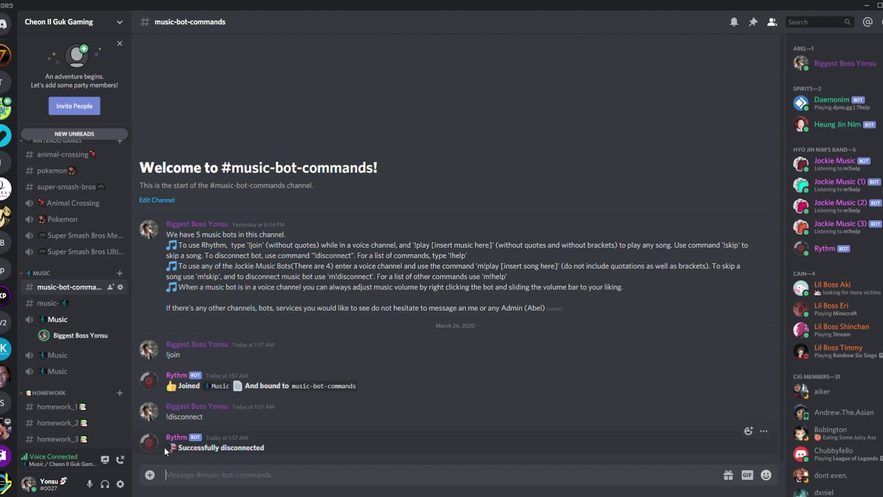 Cig Gaming Music Bot Tutorial Rhythm And Jockie Music Commands