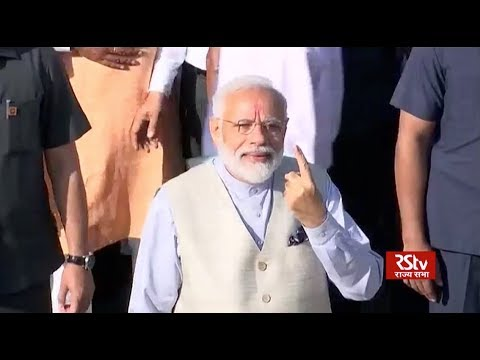 PM Modi casts his vote from Ahmedabad