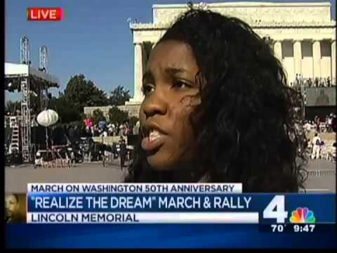 Howard University students participate in 'March on Washington' 2013.