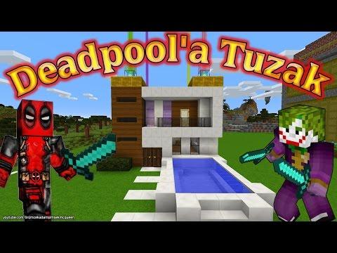 Deadpool Minecraftta Joker Örümcek Çocuğun Evini Tuzakla Doldurdu Çizgi Film Yeni Bölüm İzle