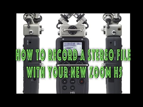 Zoom H5 - How to record