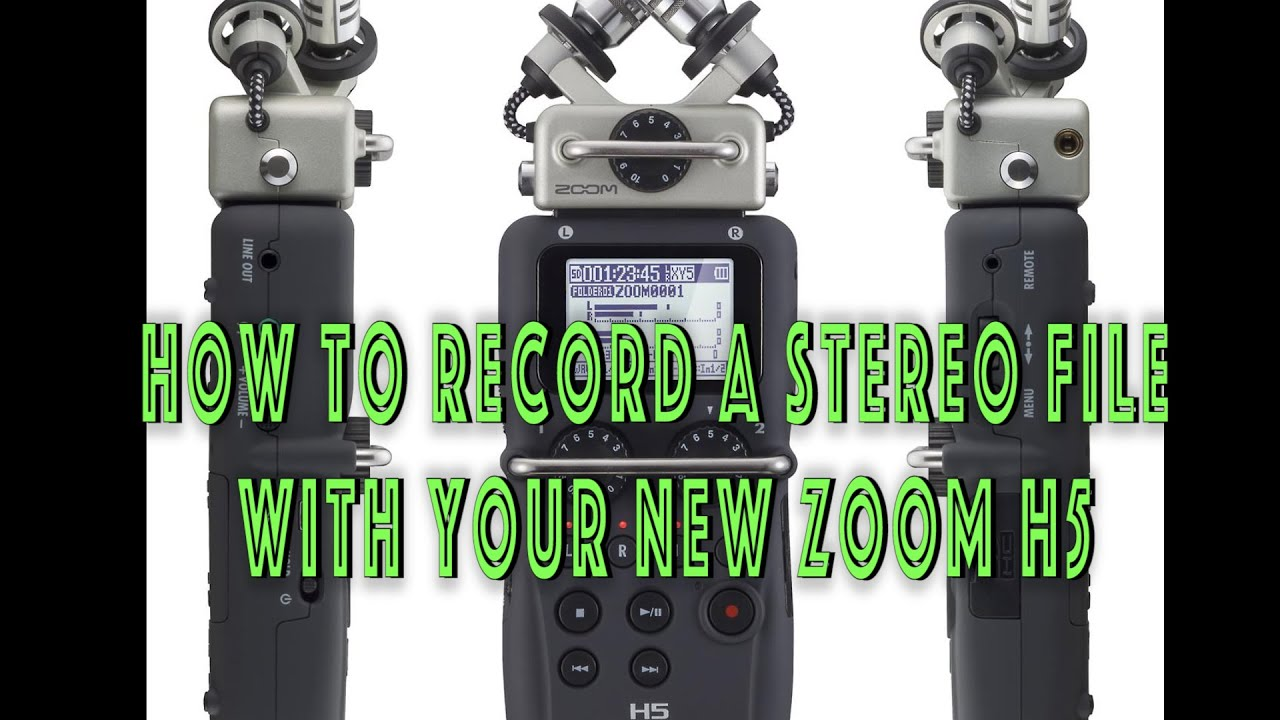 Zoom H5 - How to record - YouTube