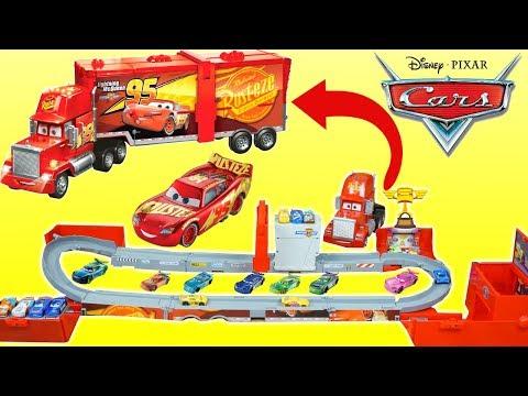 Disney Cars Super Track Mack The BIGGEST HAULER Piston Cup Playset Ever!