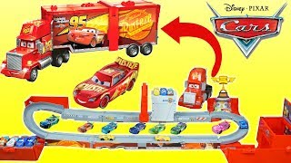 Disney Cars Super Track Mack The BIGGEST HAULER Piston Cup Playset Ever!