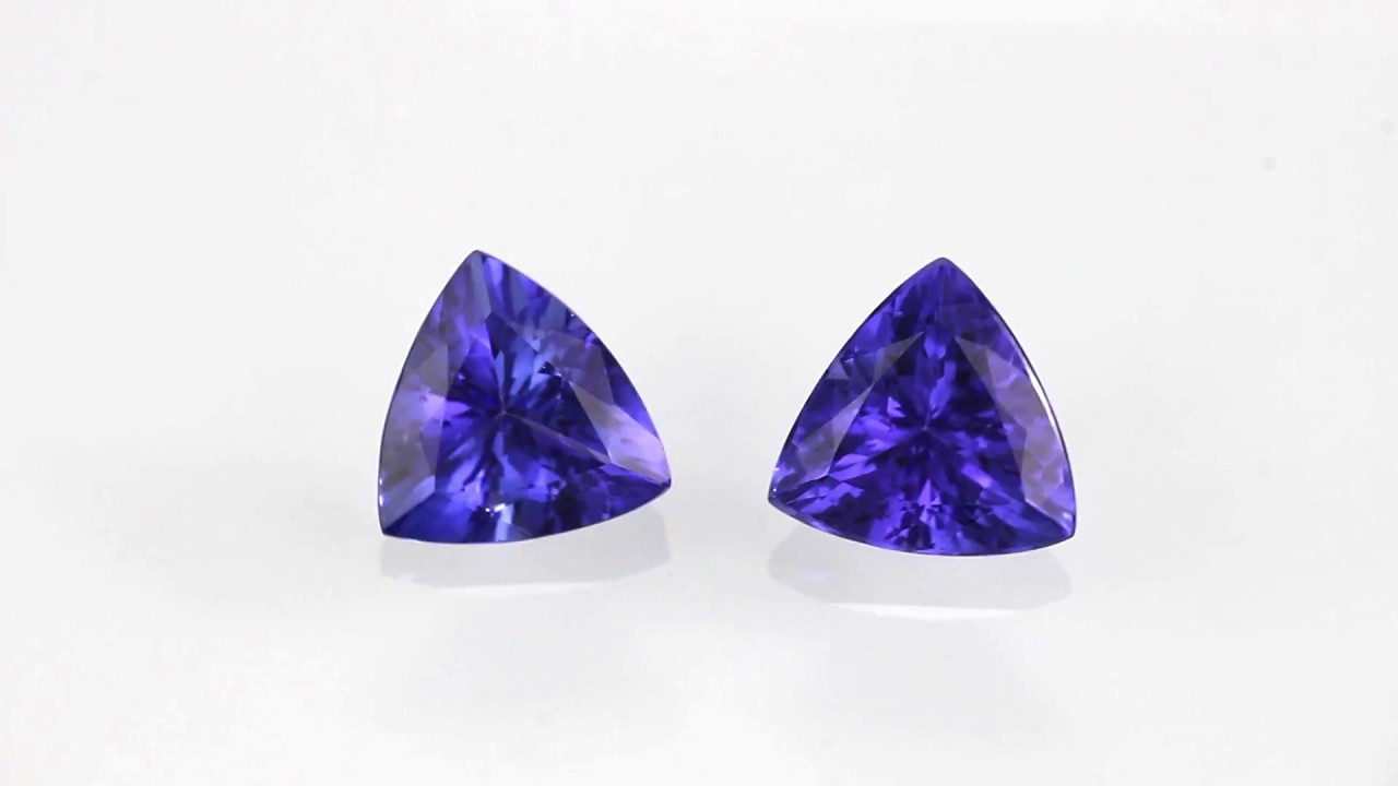sib trillion earrings silver tanzanite jewellery sterling dm siberian cut stud gemstone
