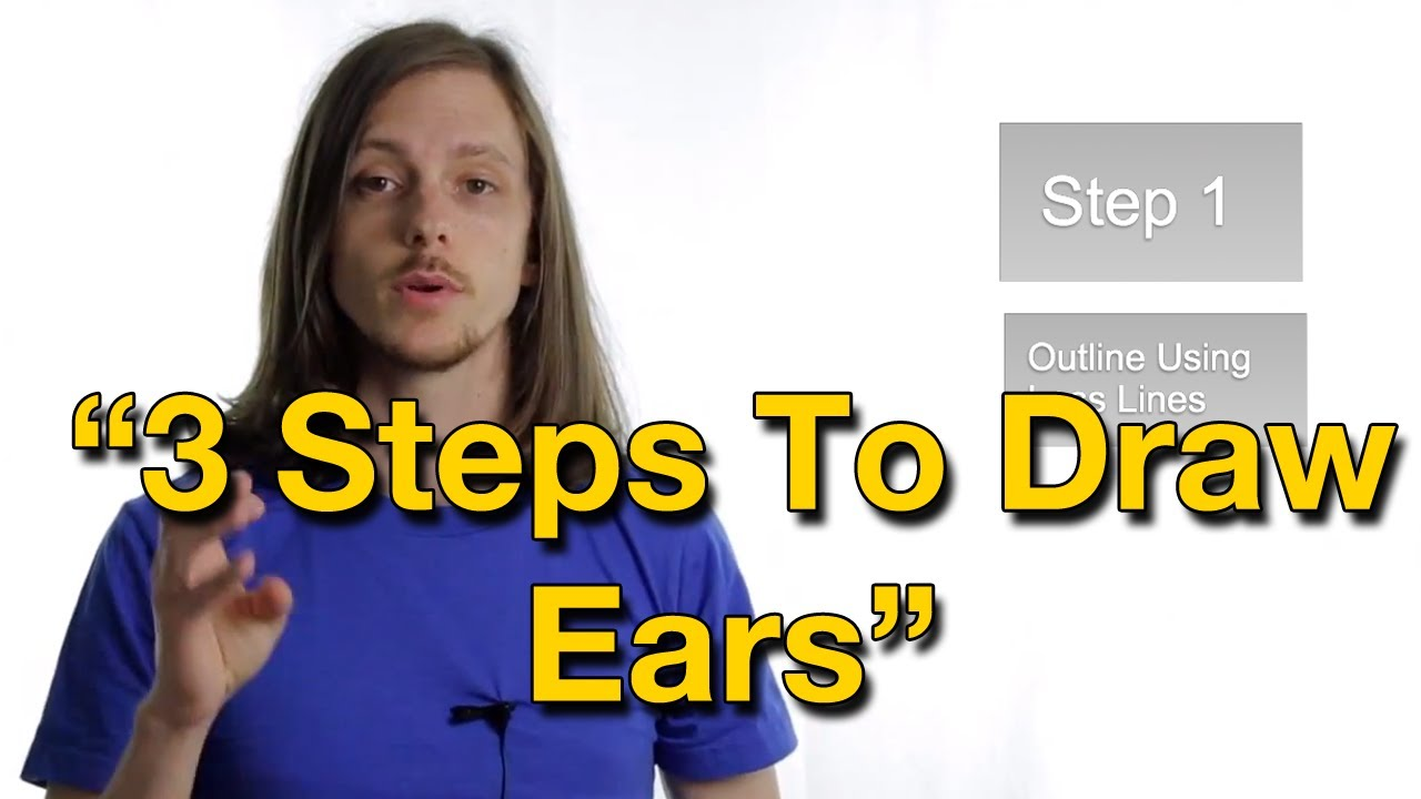 How to draw awesome ears in 3 steps youtube ccuart Gallery