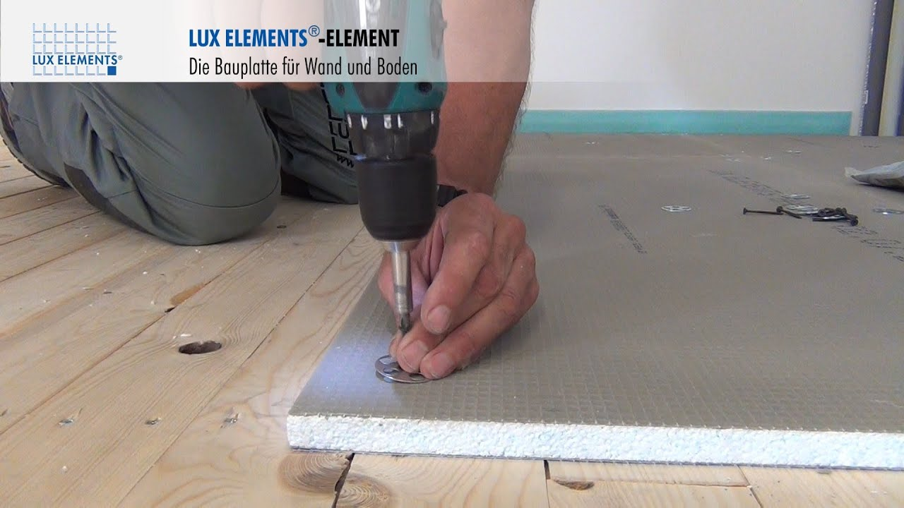 Lux Elements Montage Bauplatte Element Auf Holzboden Youtube