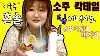 [너도혼자사니] 개그우먼 이국주 소주칵테일로 혼술 (feat.스크류바,탱크보이,솔의눈)