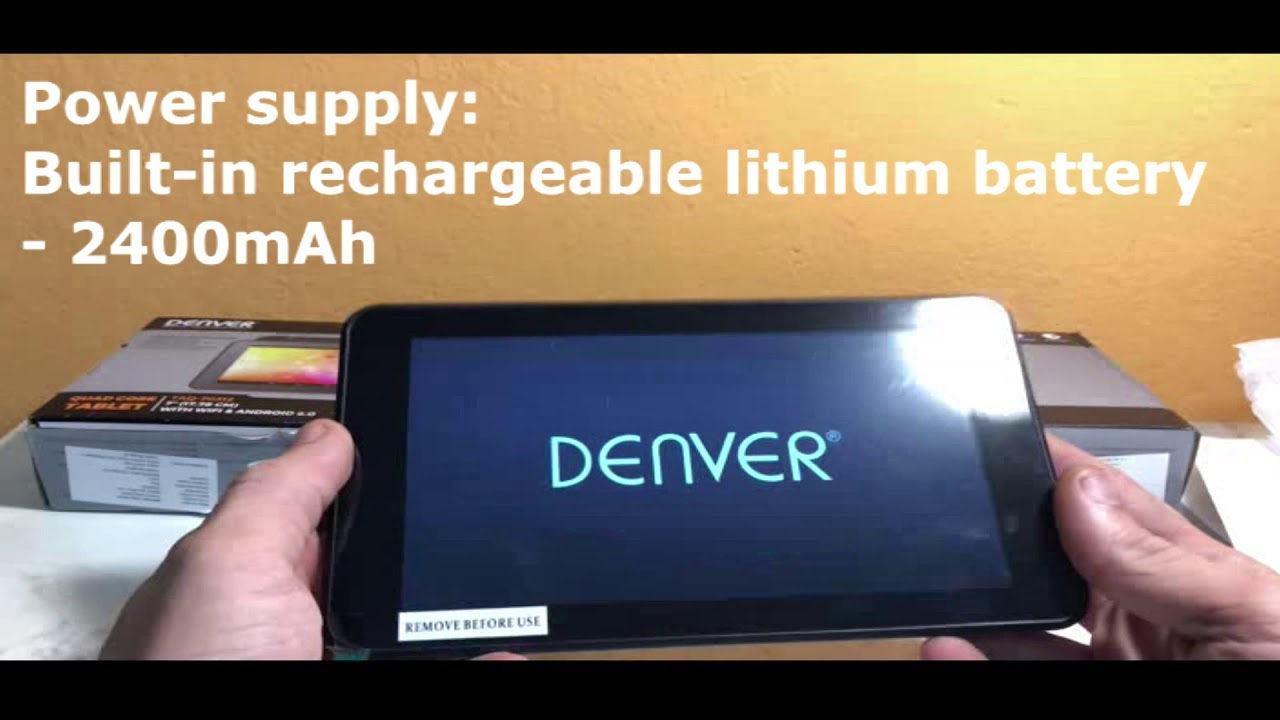 Review And Unboxing Tablet Denver Taq 70312 Youtube