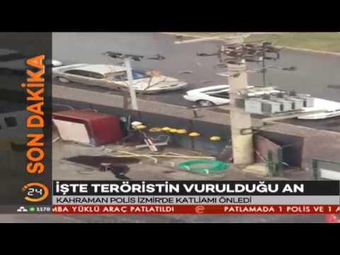 Kahraman polis Fethi Sekin İzmir'de katliamı önledi! İşte teröristin vurulduğu o an