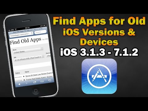 Find Apps Compatible With Old iOS Versions/Devices (iPhone 2G/3G/3GS/4, iPod Touch 1/2/3/4, iPad 1)