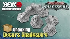 Unboxing décors Shadespire Shadowpike Ruins Terrain Set de Hexy Shop