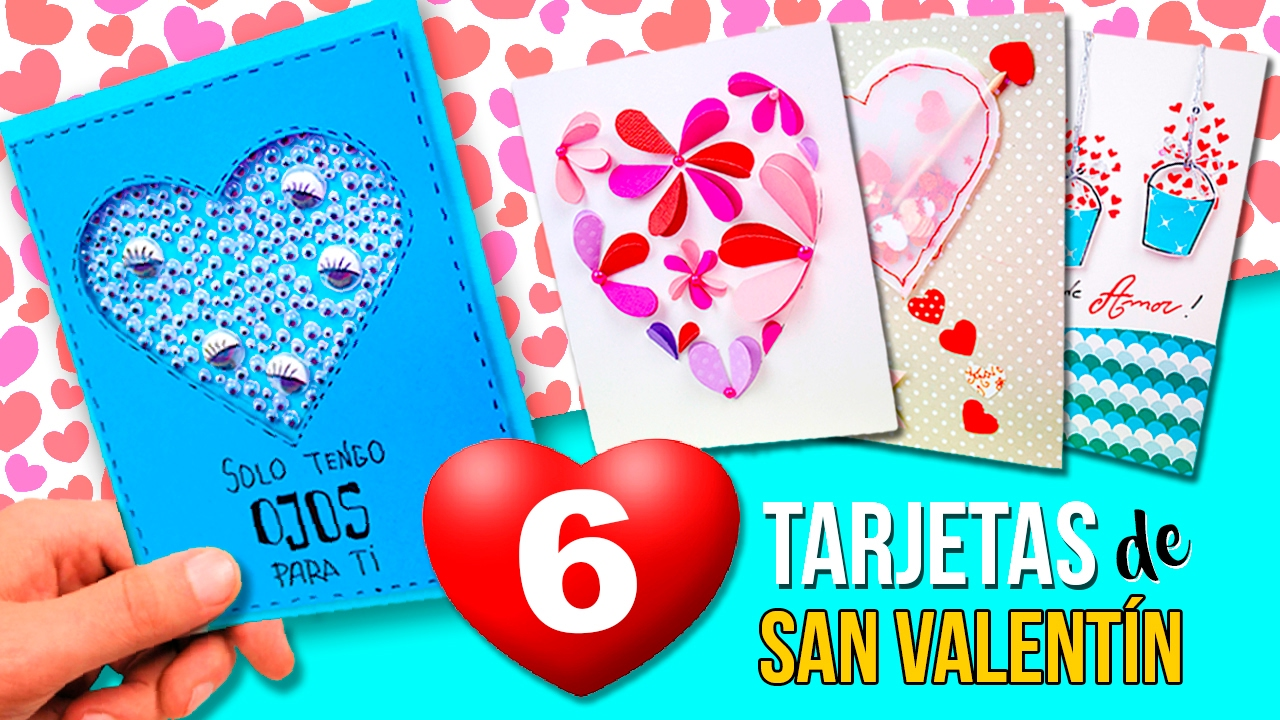 6 originales tarjetas san valentin f ciles de pinter