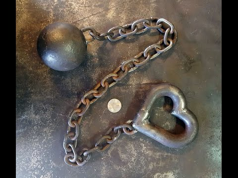 DIY Valentine Ball and Chain! Perfect for the metal worker or metal lover in your life