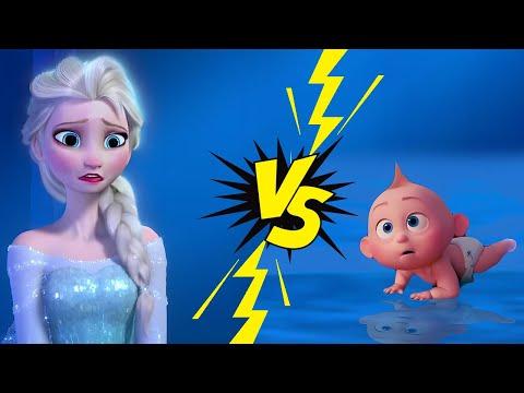 The Incredibles 2 Trailer Gone Wrong   Jack Jack Prr Meets Frozen Elsa
