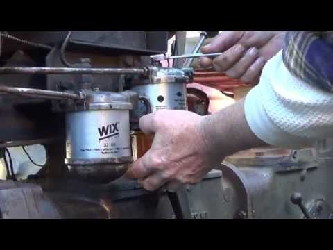 How To Change Fuel Filters On The MF 35 Diesel Deluxe Tractor