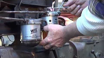 Changing a fuel filter on a mccormick cx95 tractor part 2 aka videos how to change fuel filters on the mf 35 diesel deluxe tractor publicscrutiny Gallery