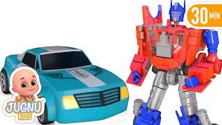 Car Toy Excavator Truck Unboxing - new surprise eggs 2020 | Jugnu Kids