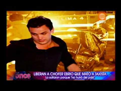 A las Once: Liberan a chofer ebrio que mató a taxista - parte 1 - 26/10/2012