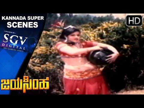 Dr Vishnuvardhan Hits | Jayamalini Super Dance Performance Kannada Scenes | Jayasimha Kannada Movie