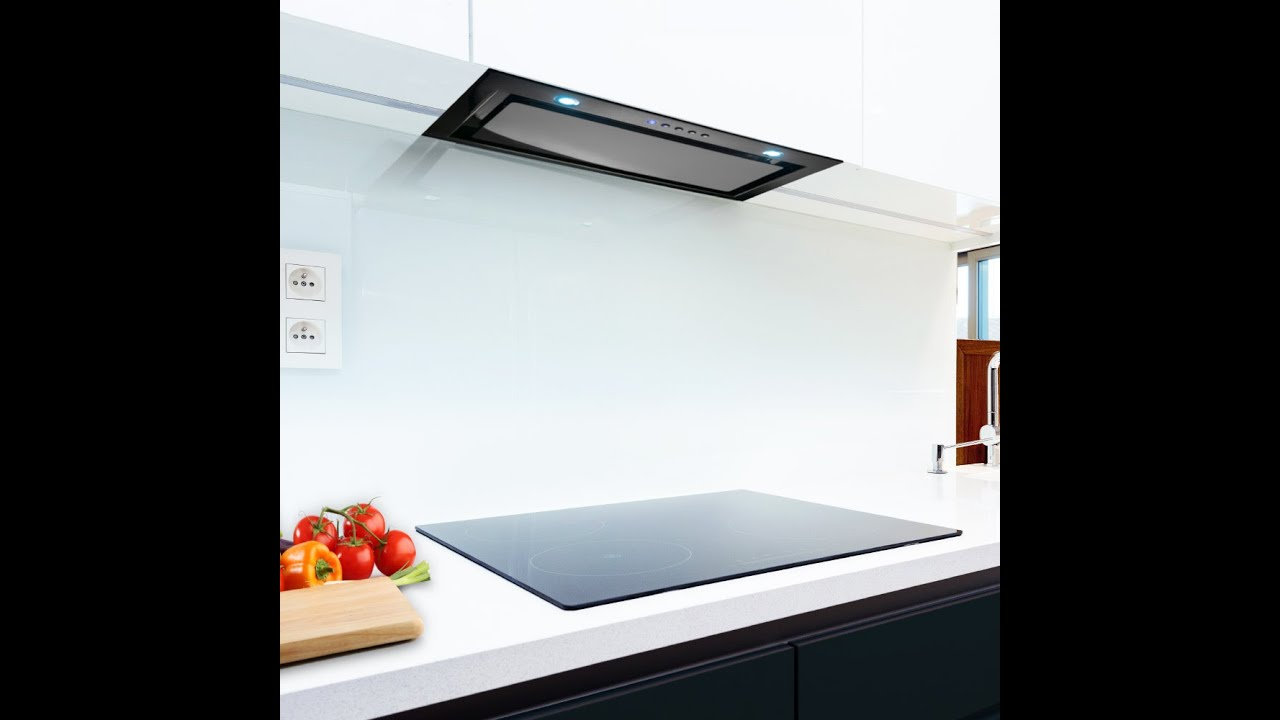 Canopy Black Glass Kitchen Extractor Luxair Cooker Hoods Youtube
