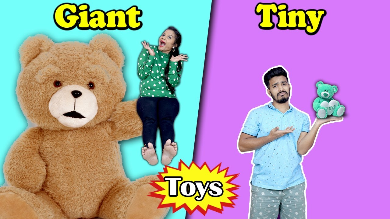 Giant Vs Tiny Toy Challenge | Hungry Birds
