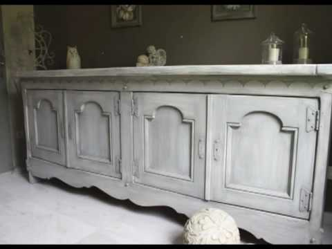 patine dressoir massifwmv - Comment Patiner Un Meuble En Blanc Vieilli