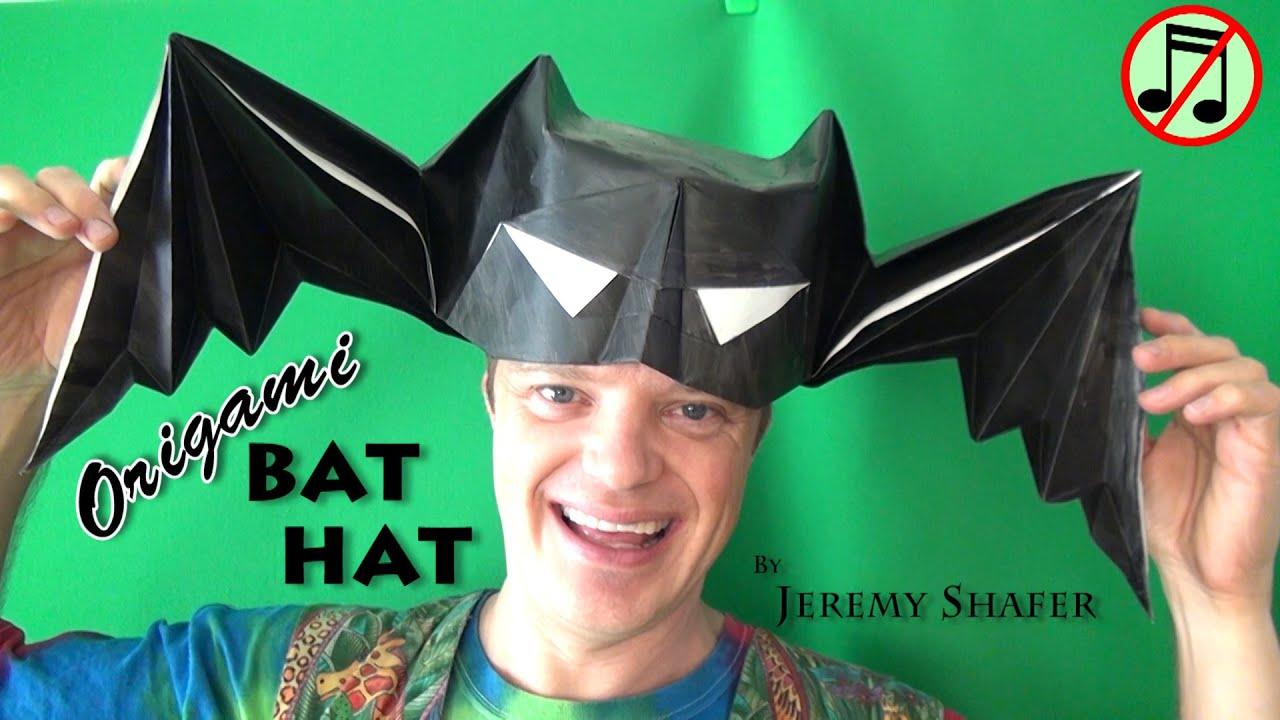 Origami Bat Hat (no music) - YouTube - photo#40