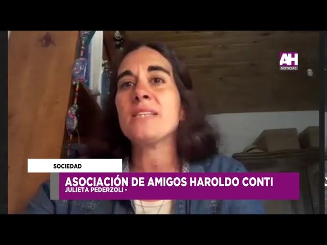 Julieta Pederzoli   Actividades de la Asociación de amigo de Haroldo Conti