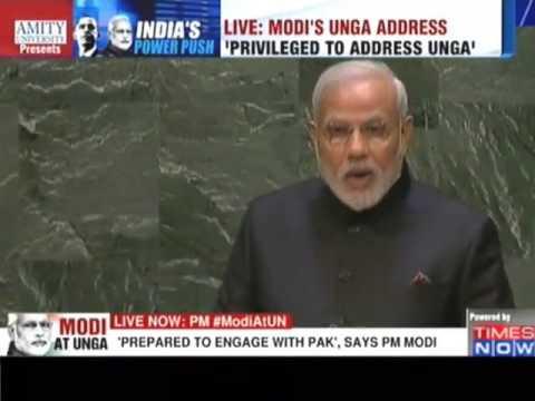 Modi's UN speech will be answer to pakistan on Kashmir -video