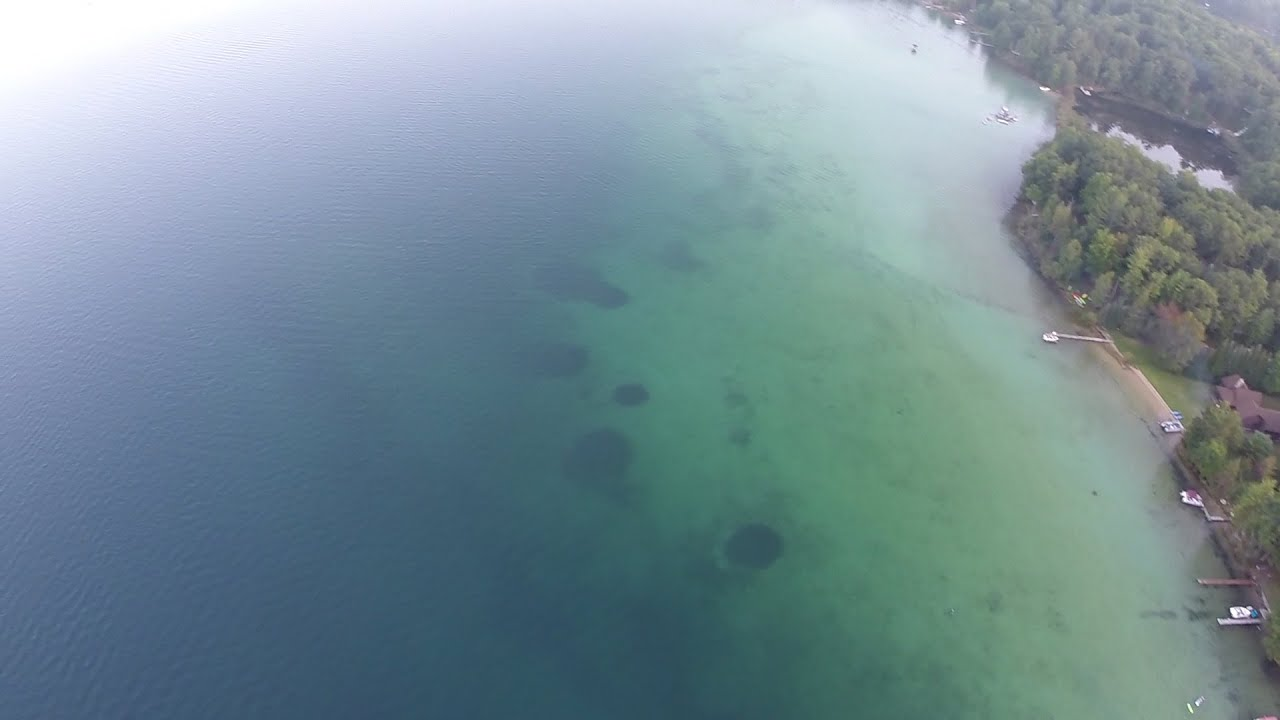 450 Quadcopter Dusk over Bear Lake Michigan 1242 Self Tightening CF Props MultiStar 2212