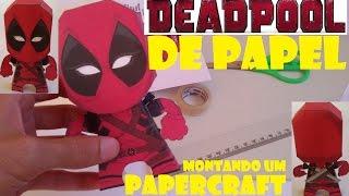 Deadpool de papel papercraft como fazer um deadpool de papel (um brinquedo de papel)