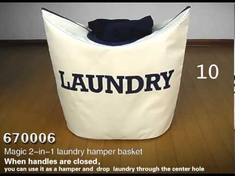 Magic 2-in1 Laundry Hamper Basket - Maxwell Home Decor poster