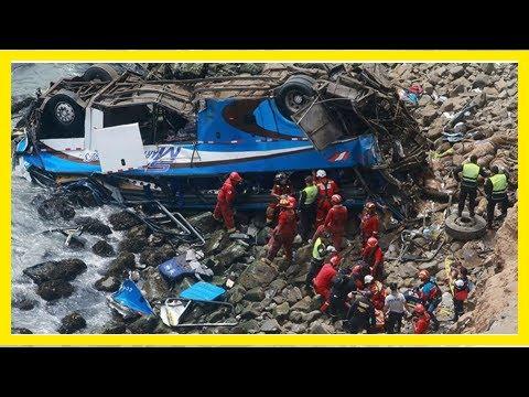 Peru bus plunges off 'devil's curve,' killing at least 48