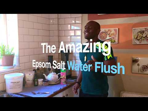 Epsom Salt Water Flush | Along Side Slippery Elm | Benzonite Clay And Activated Charcoal  Cleanse.