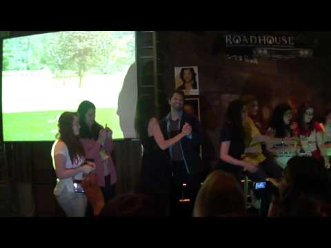 Bruna Palma dancing with Misha Collins - Karaoke RoadHouseCon 2012
