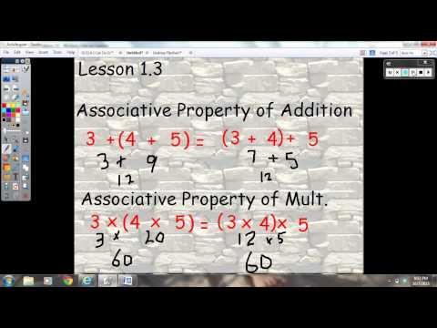 Lesson 1.3 Properties
