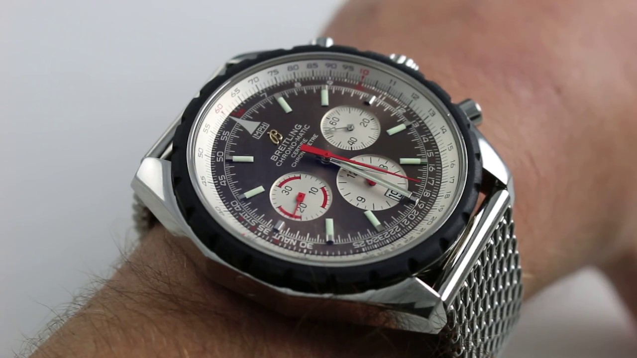 Breitling Navitimer Chronomatic 49 Chronograph 49mm Stainless Steel Watch  Review 10ff2b96512