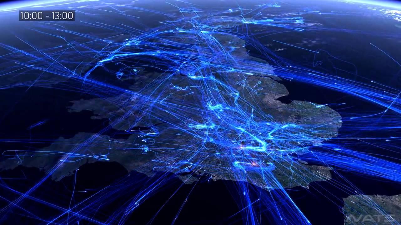 No te pierdas este impresionante video del tráfico aéreo europeo que te  muestra la Escuela Superior Aeronáutica | Escuela Superior Aeronáutica