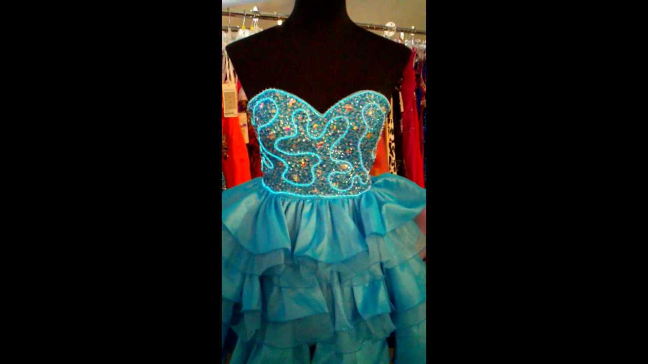 Glass Slipper Bridal Johnathan Kayne Prom Light Up Dress Youtube