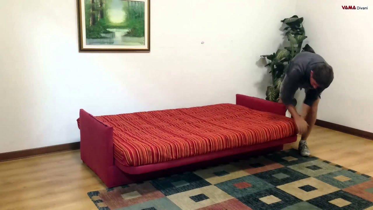 movimento meccanismo apertura a libro divano letto - youtube - Divano Letto Libro Matrimoniale
